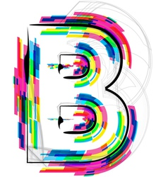 Colorful Font Letter B vector image