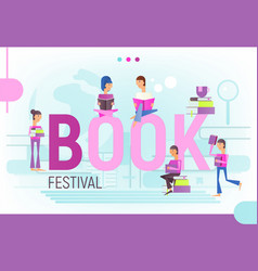 concept for book festival vector image