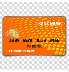 contactless credit card mock up template vector image