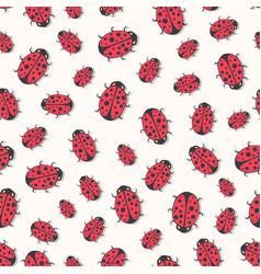 Cute ladybirds seamless pattern print for kids vector