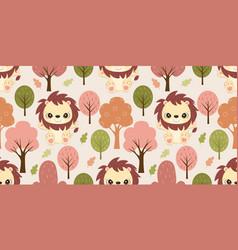 cute little lion patterns vector image
