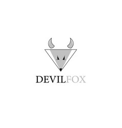 Devil fox animal logo vector