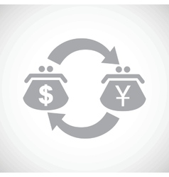 Dollar yen exchange black icon vector image