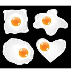 Eggs fried vector