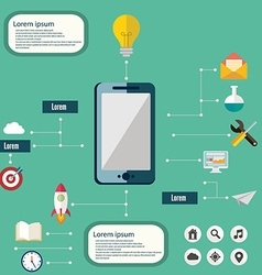 flat design smartphone infographic vector image