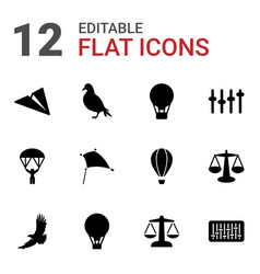 Freedom icons vector