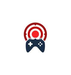 game target logo icon design vector image
