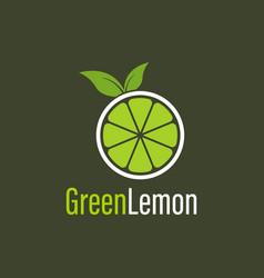 Green lemon logo design template for your company vector