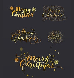 Hand-drawn lettering merry christmas vector