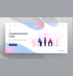 health care and medicine concept website landing vector image