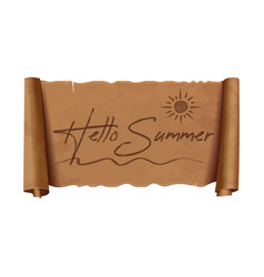 Hello summer lettering design vector