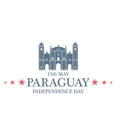 Independence Day Paraguay vector