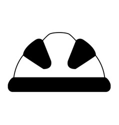 Industrial helmet icon image vector