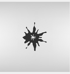 Ink splash icon vector