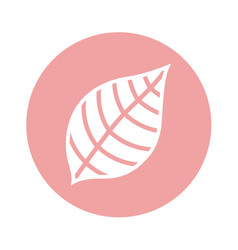Leafs plant natural icon vector