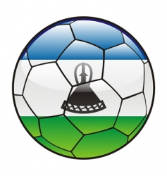 Lesotho flag on soccer ball vector