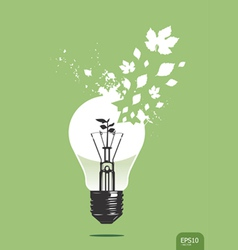 light save plant concept vector image vector image