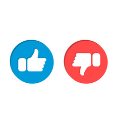 Like and dislike flat icons design elements for vector