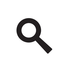 Magnifier - black icon on white background vector