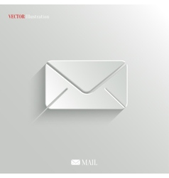 Mail icon - web background vector image