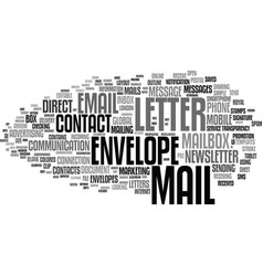 Mail word cloud concept vector