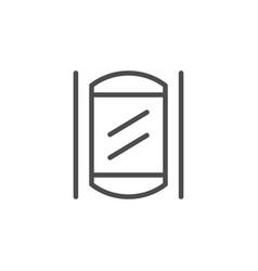 modern elevator line outline icon vector image