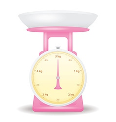 pink color weight scale market isolate on white vector image