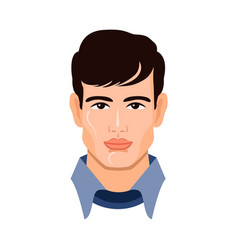 portrait cute young man vector image