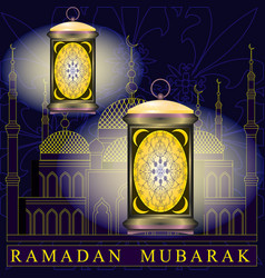 ramadan mosque on the background vector image
