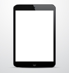 Realistic black tablet pc vector image