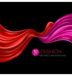 Red flying silk fabric Fashion background vector