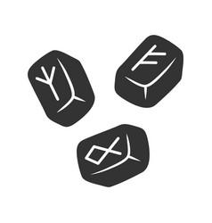 Rune stones glyph icon silhouette symbol vector