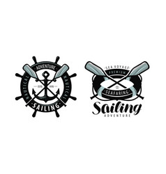 Seafaring sailing logo or label marine concept vector