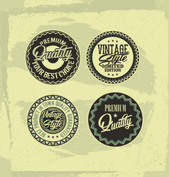 set of four vintage retro style labels vector image