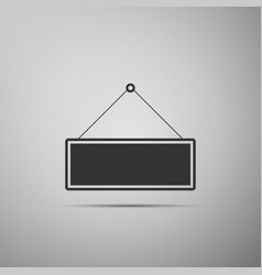Signboard flat icon on grey background vector