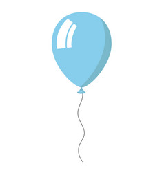 skyblue balloon on white background vector image