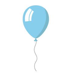 Skyblue balloon on white background vector