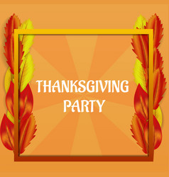 thanksgiving day party concept background vector image