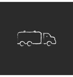 Truck liquid cargo icon drawn in chalk vector