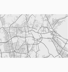 Urban city map mecca poster grayscale street vector