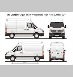 Volkswagen crafter delivery van l1h2 2011 vector