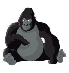 Cartoon smiling gorilla vector