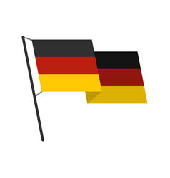 german flag icon flat style vector image vector image