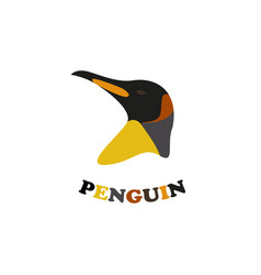 penguin head vector image