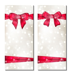 Set of cute cards with gift bows vector image vector image