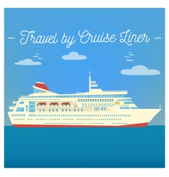 Travel Banner Tourism Industry Cruise Liner vector image vector image