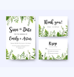 wedding invite invitation menu rsvp thank you vector image vector image