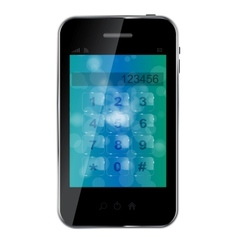 Abstract design mobile phone vector image vector image
