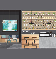 bar interior design vector image