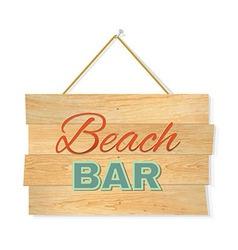 Beach wood boards vector
